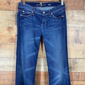 7FAM Dojo Blue Stitch Back Pockets Jeans Size 26